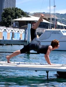 Lauren feeling the joy in practicing yoga