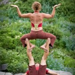 Jason Magness & Chelsey Gribbon having fun with acroyoga