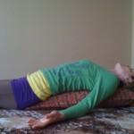 Kara-Leah relaxing on the YoGoBolster