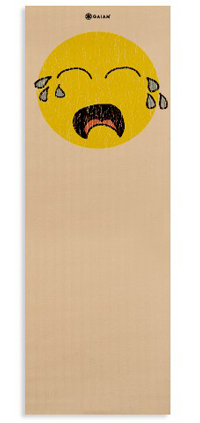 Vintage Crying Smiley Gaiam Yoga Mat, no really