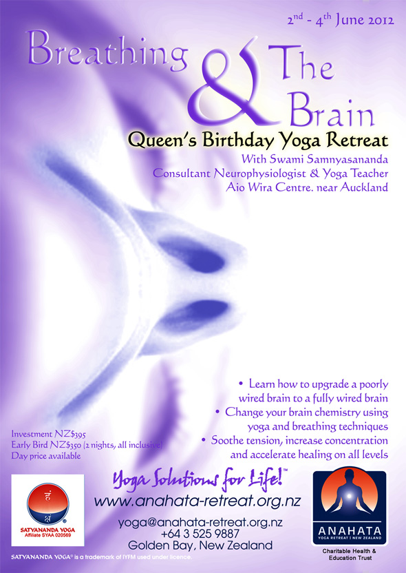 Breathing and the Brain Weekend Workshop at Anahata Yoga Retreat