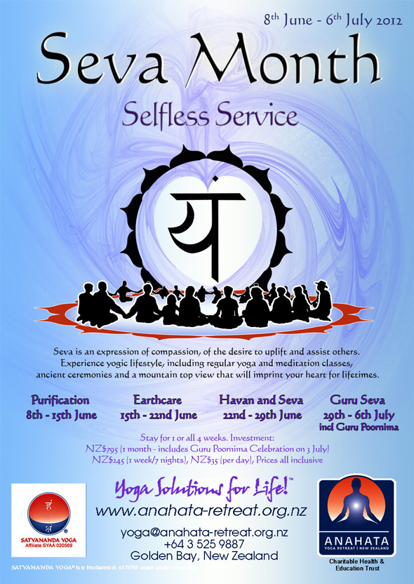 Seva Month at Anahata Yoga Retreat