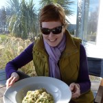 Savouring an early spring risotto with parsley and broad bean.