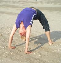 My mum, the yogini