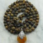 Tiger eye mala beads