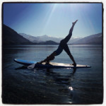 Yoga on a stand-up paddle board