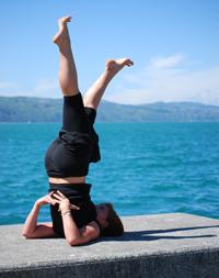 yoga shoulder stand