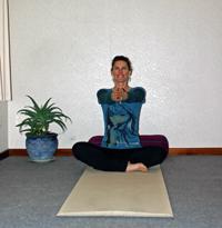 Heart-Opening Kriya, posture one.