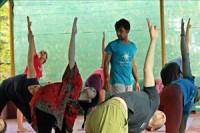 A class at Samyak Yoga