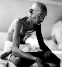 Ghandi, a man of great compassion who walked the path of Jnana and Karma Yoga.