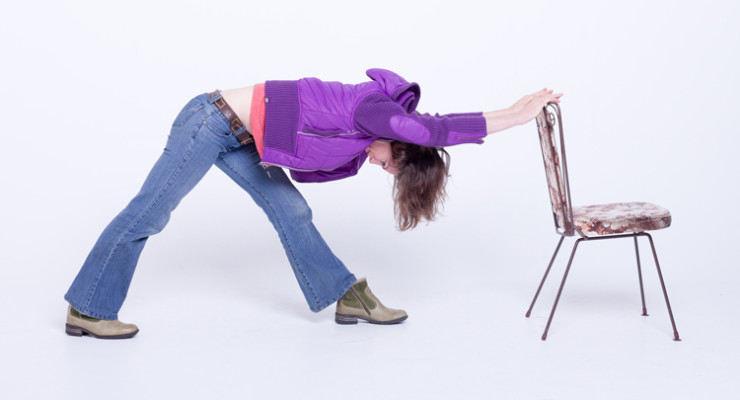 Forward bend with chair