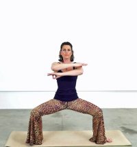 Transition pose - the squat. Seems simple, but there's a lot of power one can cultivate here.