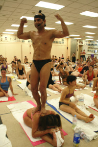 Bikram, teaching.