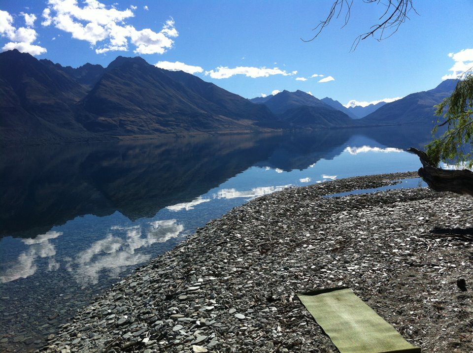 My favourite place to practice, Lake Wakatipu, near Glenorchy. Oh how I miss that place!