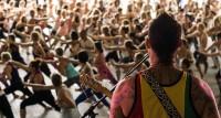 Matiu Te Huki playing during Shiva's class. Photo Credit: Cam Sims
