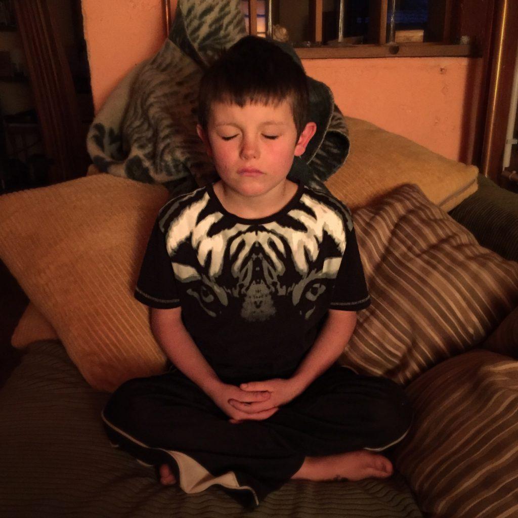 Samuel meditating