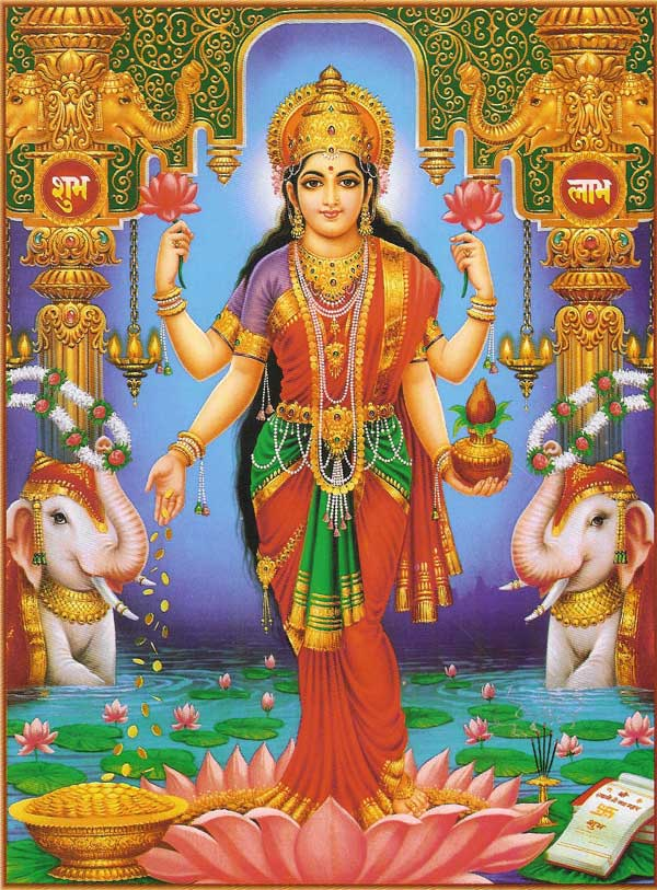 The Goddess of Spiritual and Material Wealth, Lakshmi