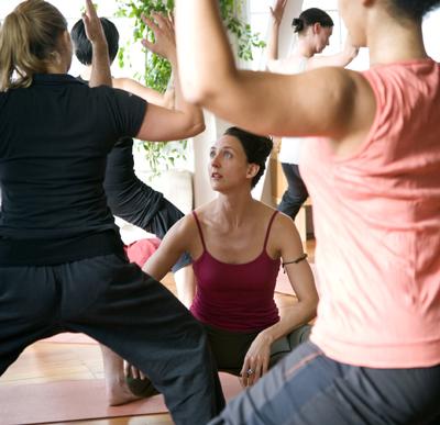 Melissa Billington teaching yoga