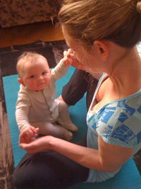 Fitting babies into a yoga practice - Samuel at 6 months