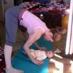 Kara-Leah and Samuel doing yoga