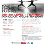 June 16: Auckland, Yoga Teacher Training – 200 Hour Level 1 Training