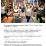 May 12 & 26: Wellington's Hot Yoga, Power Vinyasa Training Workshop