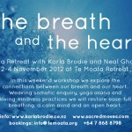 November 2 – 4, Te Moata Retreat, Coromandel, The Breath and the Heart Yoga Retreat