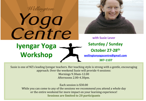 Wellington Yoga Centre Workshop
