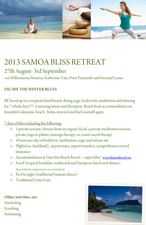 2013 SAMOA BLISS RETREAT
