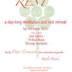 March 3: Auckland,The Open Heart – A Day-long Meditation and Rest Retreat