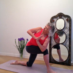 Breathing into a twist helps us mindfully move deeper without wrenching our body. Demonstrated by YLB Reader Kay Gries
