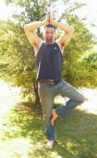 John in Tree Pose