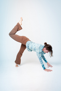 When you practice at home, you've got more time to play in the postures.