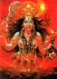 The Goddess Kali, who looks dark and scary but who removes the ego and liberates the soul.