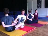 YogaTeens getting their kicks!