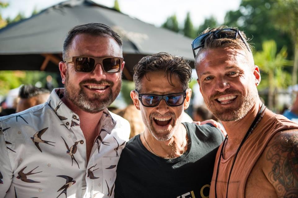 Jonnie Halstead on the left, organiser extraordinaire, with Cameron Shayne & Duncan Peak. Photo by Ali Kaukas