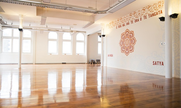 The beautiful space in Power Living Wellington's Studio.