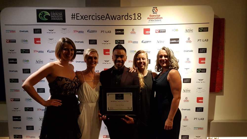 Exercise Industry Awards 2018 Jase Te Patu